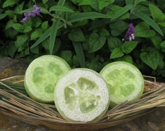 Lemongrass - Loofah Soap - Luffa Soap - Bath Soap - Exfoliating Soap - Bar Soap - Glycerin Soap - Scrub Soap - Gift Idea - Pedicure- For Her