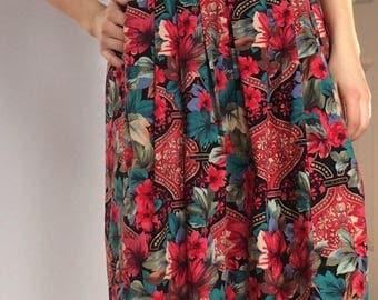 Vintage Floral Pattern Skirt