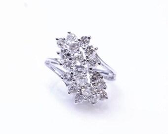 Vintage Layered Diamond Ring