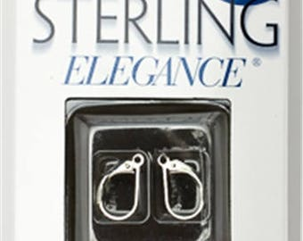 Cousin 925 Sterling Silver Elegance 2pc Leverback Earwire Hypoallergenic for  jewelry making