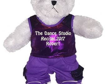 Personalized White Hip Hop Boy Bear