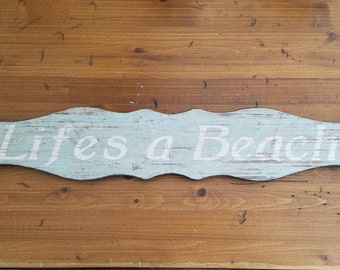 "Wooden ""Life's a Beach"" Wall Hanging"