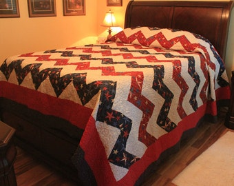 Patriotic-Red-White-and-Blue-Star-Chevron-Quilt