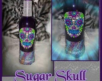 Sugar Skull Bottle Soap Dispenser