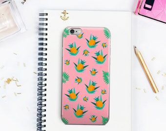 Summer Pineapples iPhone 5/6/7 Case Pineapple Pattern Summer iPhone Case Pineapple Summer Vibes Phone Case Witty Novelty