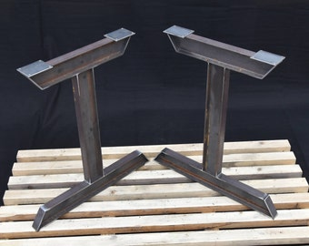 Steel Table Legs I-Beam SET of 2