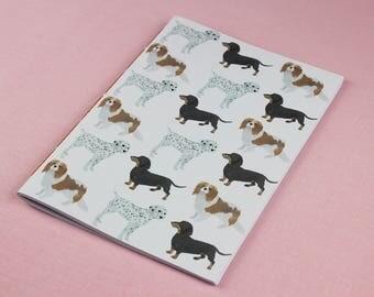 Cute Blank Notebook / A5 Notebook / Dog Notebook / Animal Notebook / Dog Journal / Cute Animal Notebook / A6 Notebook / Handmade notebook.