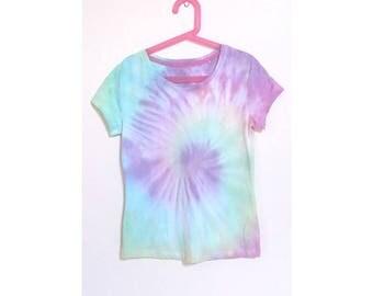 Tie Dye Girl's T-Shirt - Size 10