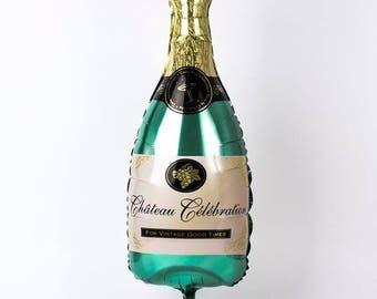 "Champagne 40"" Balloon, Large champagne bottle balloon, champagne birthday, champagne birthday balloon, new years balloon, Foil Balloon"