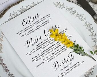 Wedding Menu Printable 7