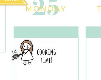 Cooking chef sauté planner stickers