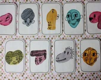 """COMPLETE COLLECTION of trading cards """"creepy characters"""""""