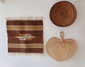Vintage Chimayo weaving // southwestern weaving // vintage woven wallhanging // boho wallhanging // housewarming gift // gifts for her