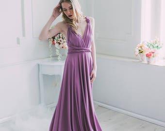 Lilac Infinity Dress, Convertible dress, Bridesmaid dress, Long Dress,  Ball Gown Dress, Evening Dress, Maxi Dress, Multy way dress