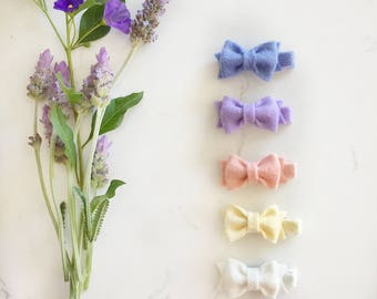 Felt bows | Baby hair clips | mini felt bows | Toddler clips | Pick your colors