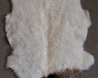 Organically Tanned Goat Skin Rug
