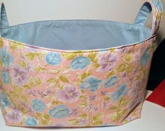 Fabric organizer basket, bin, storage basket, Large basket, toys bin, diaper caddy