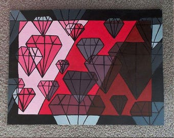 Monochromatic Diamonds
