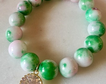 beaded gemstone bracelet