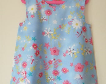 Handmade Girls Age 2-3 Years A-Line Dress ''Dragonflies''
