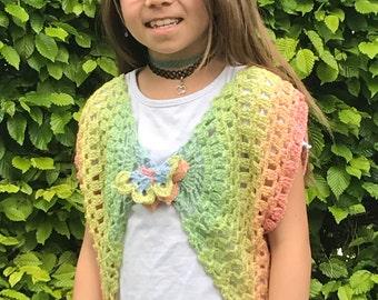"Crochet instructions for vest Rainbow ""Shenna"""