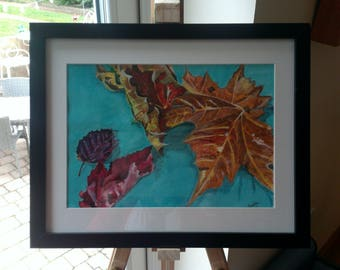 Autum Leaves, Original Watercolour