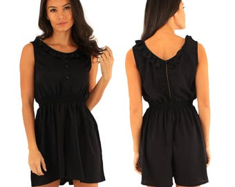 Black street style playsuit/romper, casual, comfortable, new