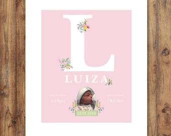 Personalised Baby Name Print