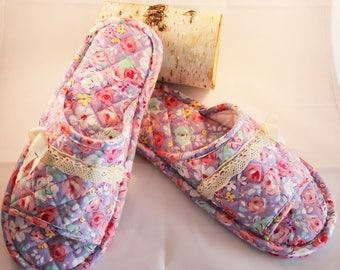 Comfy Cotton Slippers - indoor shoes - Eco Friendly - good for wood floor