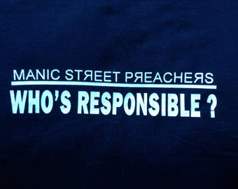 Vintage Manic Street Preachers 90s local crew T shirt XL