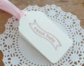 Baby Girl Tags, Sweet Baby Tags, Baby Gift Tags, Baby Shower Tags, Baby Shower Favor Tags, Baby Girl, Sweet Baby Girl, Set of 8