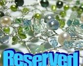 Reserved Listing - pearl and rhinestone cuff bracelet