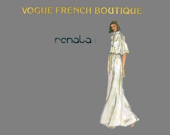 70s uncut Vogue Maxi Dress pattern SALE Renata 34-26.5-36 Vogue French Boutique pattern vogue 1860
