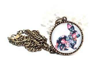 Animal Jewelry, Bunny Jewelry, Rabbit Jewelry, Pendant Necklace, Boho Necklace, Resin Necklace, Resin Jewelry, Gift for Her, Resin Pendant
