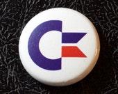 """1"""" Commodore 64 button - retro, nerdy, techie, pin, badge, pinback"""