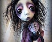 Loopy Southern Gothic Art Doll Victorian Dark Goth Rochelle and Rocky