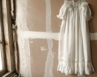 Antique Christening Gown 6-12 Months