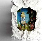 Through the Looking Glass Alice in Wonderland Mini-Shrine