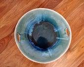 Dark Blue Serving Platter  - Navy Blue Large Ceramic Serving Bowl Ceramic serving platter