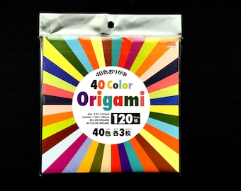 40 Color Origami Paper - Chiyogami - Yuzen - Japanese Paper - Origami 40 Patterns 120 Sheets 15cm 5.9inch