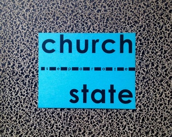 10 postcards Separate Church and State founding principal protest postcard