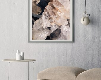 Mineral Photography - (Print # 076) Crystals  -Fine Art Print - Two Paper Choices- Mineral Geode Agate Crystal Decor