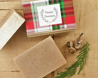 Cream and Honey Soap | Oatmeal Soap, Honey Soap, Bath and Body Soap, Vegan Soap, Vanilla Bean, Gift Idea for Women Men Friends, Gift Wrap