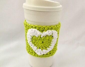 Cup Cozy Heart Cup Sleeve Valentine Cup Cozy Coffee Cup Cozy