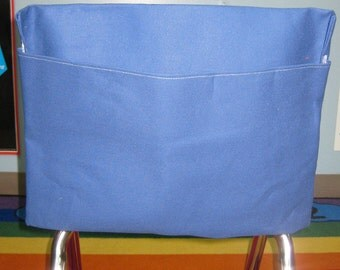 20 Chair Pockets Seat Desk Sack  Washable Colored Duck Cloth You Choose the COLOR(s) and SiZES Chair Pocket Factory