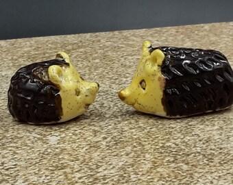 A pair of miniature hedgehogs - original porcelain art