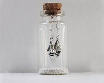 Sea Shell Earrings In A Little Bottle