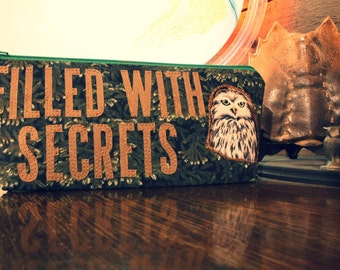 """Twin Peaks Inspired """"FILLED WITH SECRETS"""" Pencil Case, Pouch for School, Work and Play"""