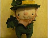 RESERVED 4 GCRTREES Leprechaun Irish lucky doll decorWhimsical cottage chic shabby primitive creepy cute country decor Farm Quirky