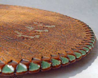 Lazy Susan, Handmade pottery turntable, Lazysusan, Ceramic Lazy susan, Centerpiece